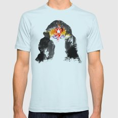 Muscle Girl Mens Fitted Tee Light Blue SMALL