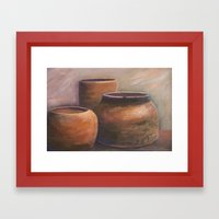 Clay Pots AC151201d-12 Framed Art Print