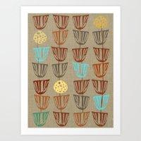 Pods And Seeds 2 On Line… Art Print
