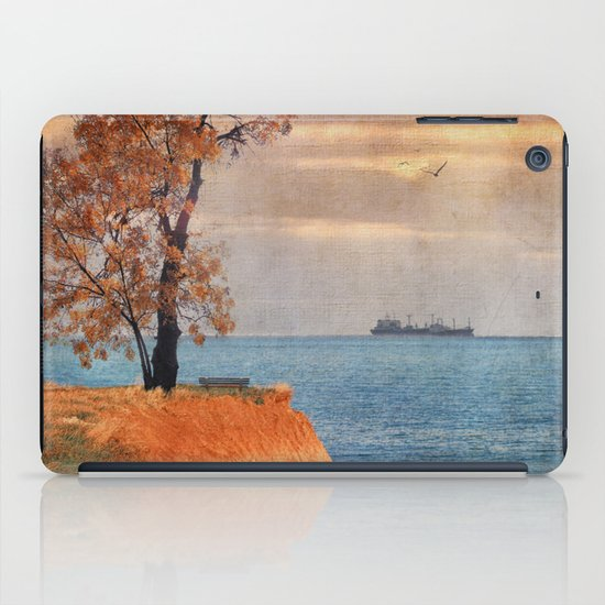 Autumn by the sea iPad Case