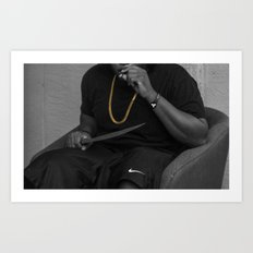 blvvk&gold. Art Print