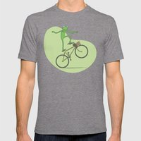Ride On Kermit Mens Fitted Tee Tri-Grey SMALL