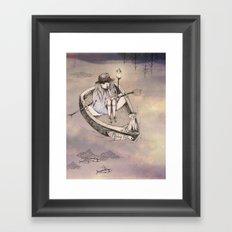 flying fith Framed Art Print