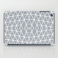 Geo Outline Grey iPad Case