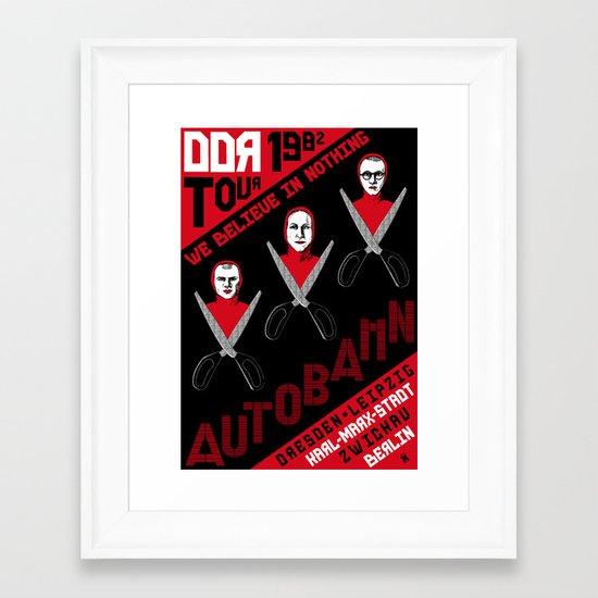Autobahn--East German Tour 1982 Framed Art Print