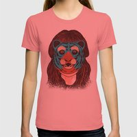Tiger Face Womens Fitted Tee Pomegranate SMALL