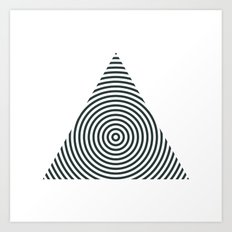 #238 Pyramid – Geometry Daily Art Print