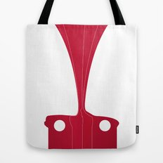 Silhouette Racers - Mazda MX5 in Red Tote Bag