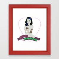 Beauty & Braaaains Framed Art Print