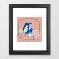 Vampire Mermaid Framed Art Print