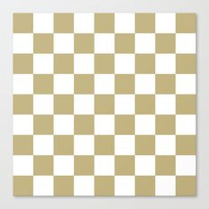 Checker (Sand/White) Canvas Print