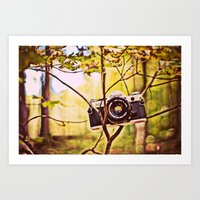 Vintage Canon Camera Art Print