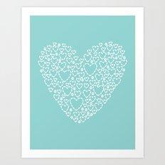 Heart Blue Art Print
