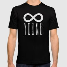 Forever Young Mens Fitted Tee SMALL Black