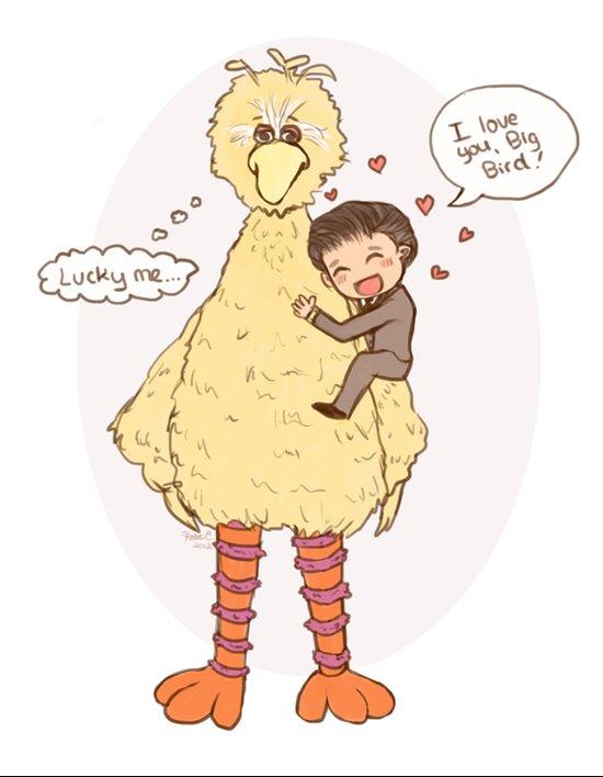 Romney loves Big Bird Art Print