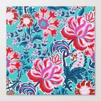 Bohemian Floral Paisley … Canvas Print