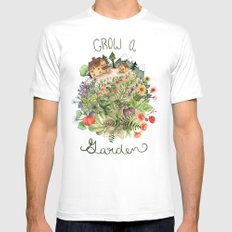 Grow A Garden Mens Fitted Tee White SMALL
