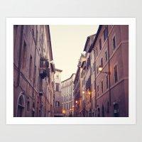 Rome At Dusk Art Print