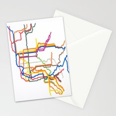 NYC Subway System (Complete) Stationery Cards