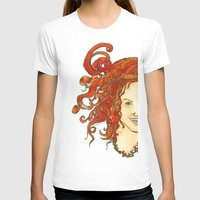 my dear Womens Fitted Tee White SMALL