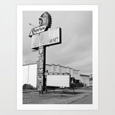 Once a diner Art Print