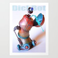 DickBot Art Print