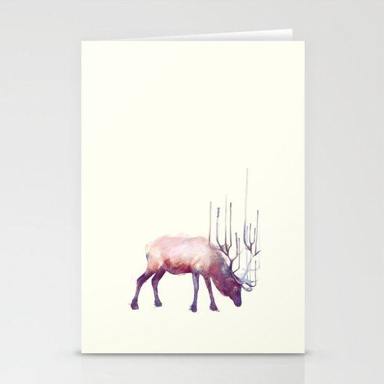 Elk // Solitude Stationery Card