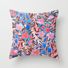 Nonchalant Vibrant Throw Pillow