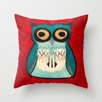 HootHoot Throw Pillow
