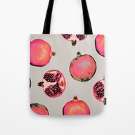 Tote Bag featuring Pomegranate Pattern by Georgiana Paraschiv
