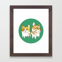 My Cats Are Such Drips Framed Art Print