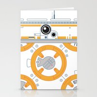 Minimal BB8 Droid Stationery Cards