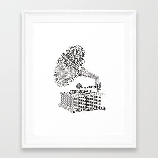 Music just for you Framed Art Print