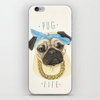 Pug life - pug dog iPhone & iPod Skin