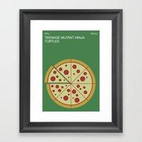 Poster Nintendo Teenage … Framed Art Print