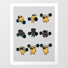 OLYMPIC LIFTING PUGS Art Print