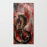 Canvas Print featuring The Stroke of Music by James Davis