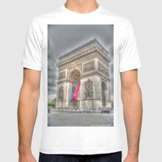 Triumphant Arch White Mens Fitted Tee SMALL
