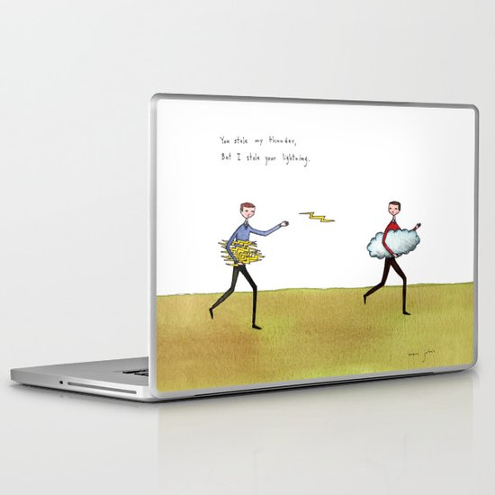 you stole my thunder Laptop & iPad Skin
