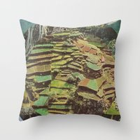 Forrest People Throw Pillow