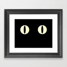 Cat Eyes (Black Cat) Framed Art Print