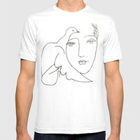 Face - Dove Mens Fitted Tee White SMALL