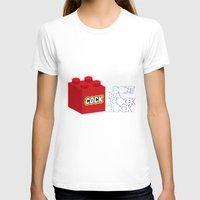 The Dreaded Cock Block Womens Fitted Tee White SMALL