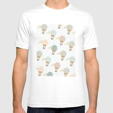 baloon collage pattern  Mens Fitted Tee SMALL White