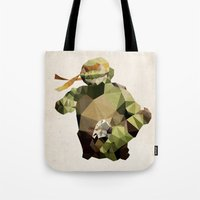 Polygon Heroes - Michelangelo Tote Bag