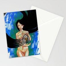 Woosh Hair Girl Stationery Cards