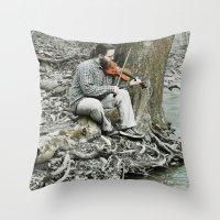 Fiddler On The Creek Throw Pillow