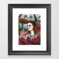 Alice In W-land Framed Art Print