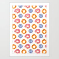 Sweet Things: Doughnuts Art Print