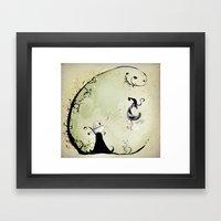 Cat Romance Framed Art Print